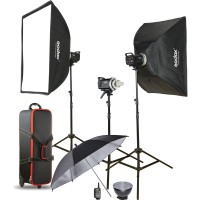 Godox MS200D-KIT – Manual Studio Flash Kit με 3x200Ws με ενσωματωμένη ραδιοσυχνότητα