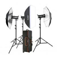 Godox GD-SK400II-K-3F – Manual Studio Flash Kit με 3x SK400II