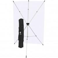Westcott 577K – X-Drop Λευκό Υφασμάτινο Φόντο 1.52 x 2.13m Kit με X-Drop Stand