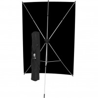 Westcott 578K – X-Drop Μαύρο Υφασμάτινο Φόντο 1.52 x 2.13m Kit με X-Drop Stand
