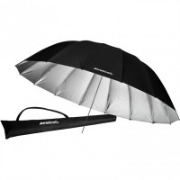 Westcott - Παραβολική ομπρέλα ανάκλασης 220cm (ασημένια/μαύρη)
