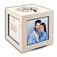Κορνίζα - Κύβος ξύλινος με τις φωτογραφίες σας