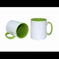 Κεραμική κούπα με εσωτερικό και χερούλι πράσινο 11oz