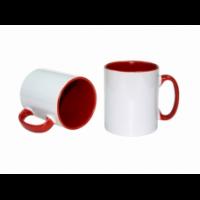 Κεραμική κούπα με εσωτερικό και χερούλι κόκκινο 11oz