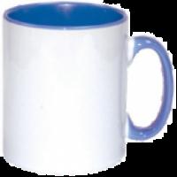 Κεραμική κούπα με εσωτερικό και χερούλι γαλάζιο 11oz